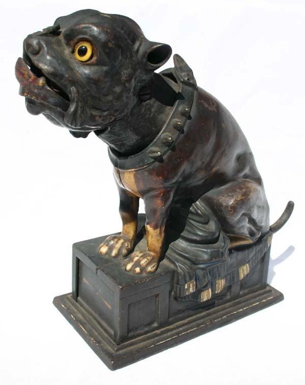 "16: antique cast iron mechanical bank ""The Bulldog"" ca"