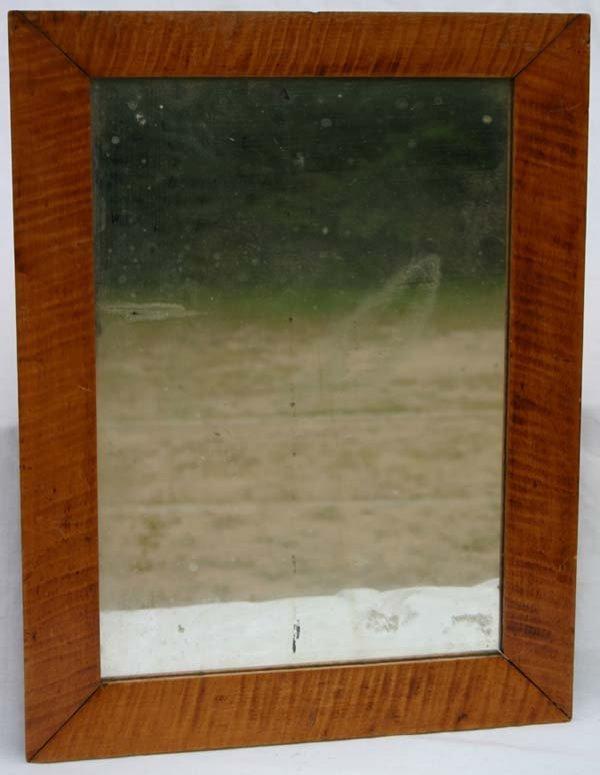 24: 19thC tiger maple mirror