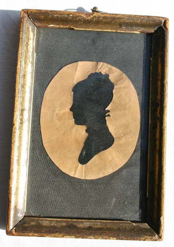 1003: ca 1810 hollow cut silhouette portrait of a young