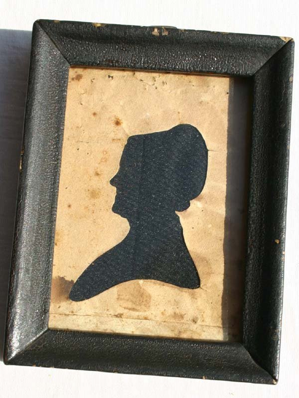 1014: ca 1830 hollow cut silhouette portrait of a woman