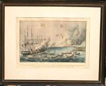 1027 1861 Currier  Ives Bombardment and Capture of t