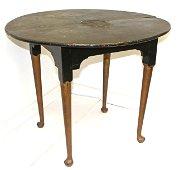 Period QA pad ft tiger maple tea table w Victorian