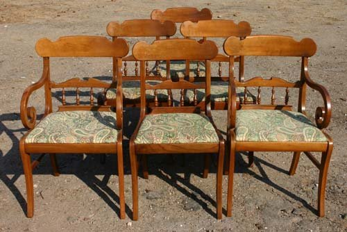 5: 8 pcs fine quality cherry dining rm set from Alvin A