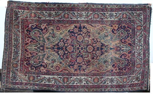 6: Somers Estate antique 7'x4' Oriental Rug