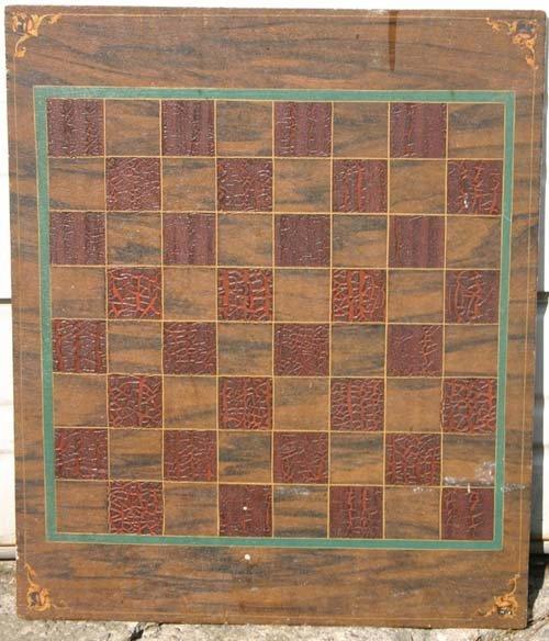 19: 19thC 17x14 great orig multi color grain ptd game b