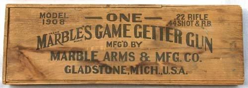 "26: Rare model 1908 ""Marble's Game Getter Gun"" box ONLY"