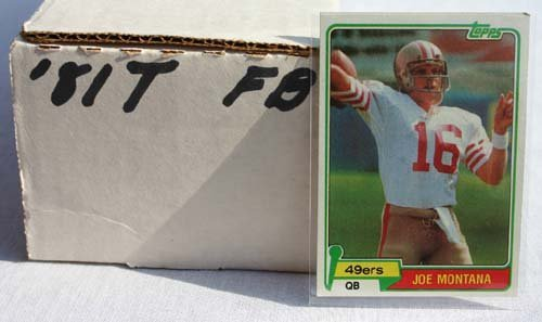 1013: 1981 Topps football set featuring Joe Montana roo