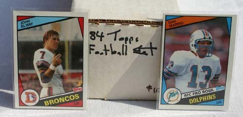 1014: 1984 Topps football set featuring John  Elway & D
