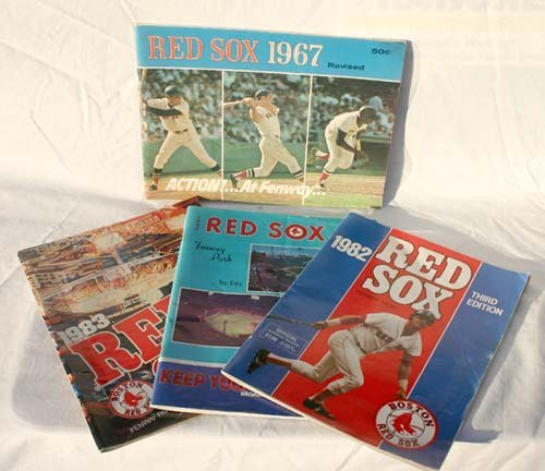 1016: 1967 Red Sox Yearbook & 1974,77, 82 & 83 Red Sox