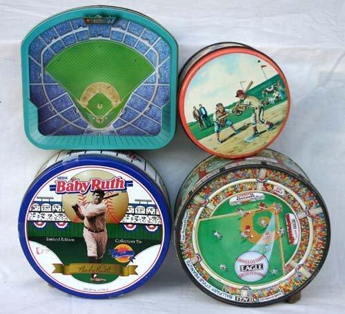 1017: 4 Baseball tins