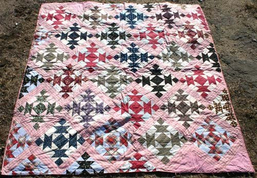 "1020: Ca 1880's ""Anvil Variation"" Quilt from Col. Frank"