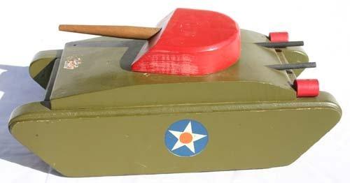 1042: 1940's Buddy L wooden tank