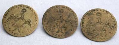 8: George Washington Presidential Inaugural Buttons