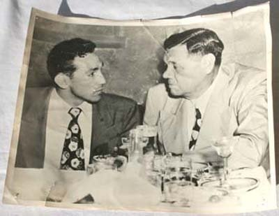 23: orig 1940's 8x10 photo of Babe Ruth with Willy Pepp