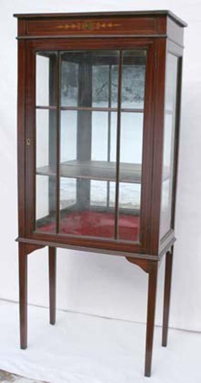 25: Ca 1870 mahogany inlaid & paint dec Hepplewhite sty