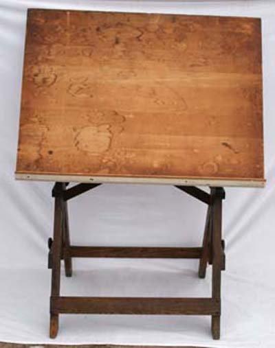 "50: Keuffel & Esser Co antique ""Popular"" drafting table"