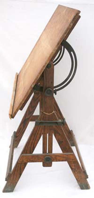 "50: Keuffel & Esser Co antique ""Popular"" drafting table - 2"