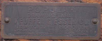 "50: Keuffel & Esser Co antique ""Popular"" drafting table - 3"