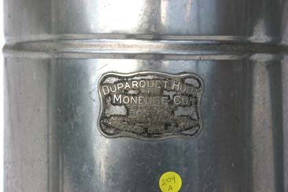 "204A: 30 1/2"" tall plated antique coffee urn w label an - 2"