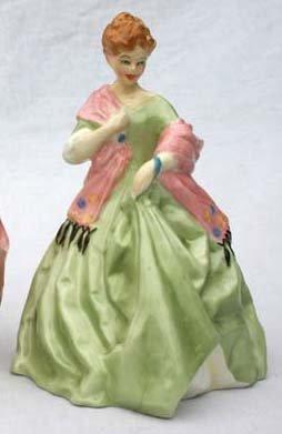 "1: Royal Worcester porcelain figurine #3629 ""First Danc"