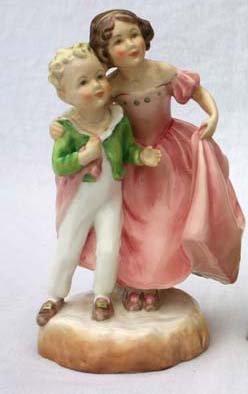"""2: Royal Worcester porcelain figurine #3149 """"Sister"""" -"""