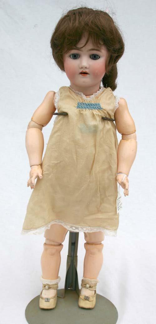 """3: 24"""" Heinrich Handwerck bisque & compo doll on orig s"""