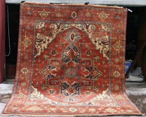 "21: Very fine 8'1""x10'1"" Heriz Oriental rug"