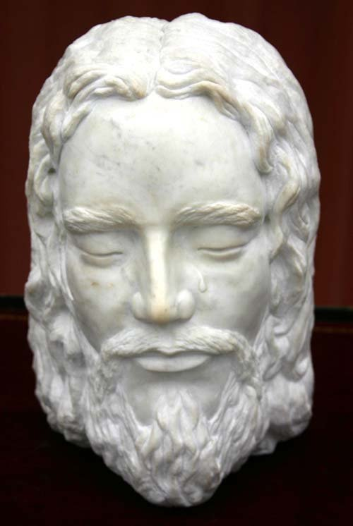 """22: Yiannis Stefanakis 13"""" Carrera Marble sculpture """"Th"""