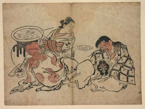 4: 2 antique Japanese woodblock prints