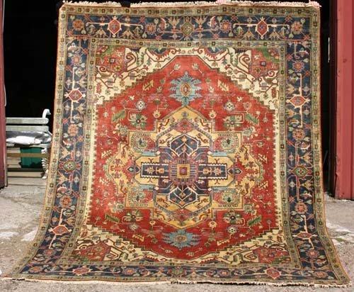 11: Fine 8x10 Agra Serapi Oriental Rug