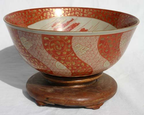 "13: Chinese Export 9"" bowl on stand"
