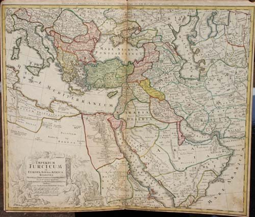 "19: 1737 hand colored map ""Imperium Furcicum in Europa"