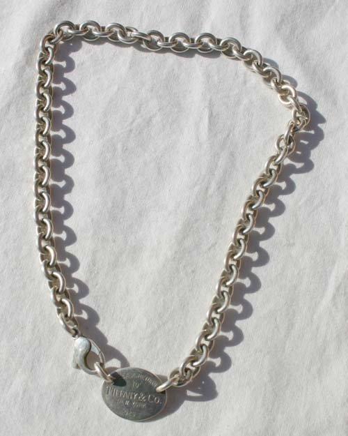 20A: sterling silver Tiffany watch fob/choker
