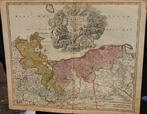 "22: 2 antique hand colored map -  ""Les Environs de Pari"