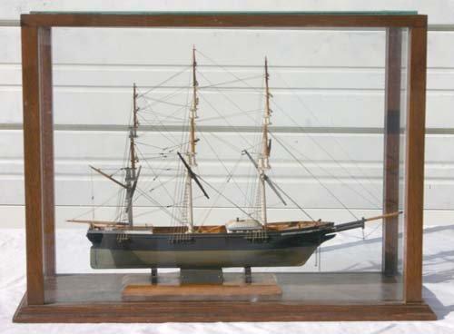 "229: cased ""Sea Witch"" clipper ship model by Le Baron B"