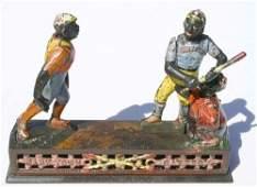 """35A: Rare """"Dark Town Battery"""" cast iron mechanical bank"""