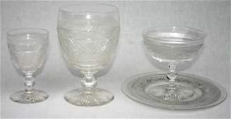 222 fine quality Steuben cut crystal 20 pc stemware se