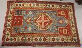 """Rare dated antique Caucasian Oriental Rug - 3'10""""x 5'4"""""""