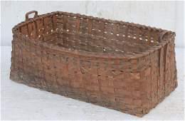 Large antique Native American 2 handled basket w potato