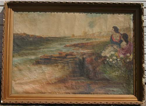 19: Giordano Felice (Italian) 42x60 o/c Capri scene