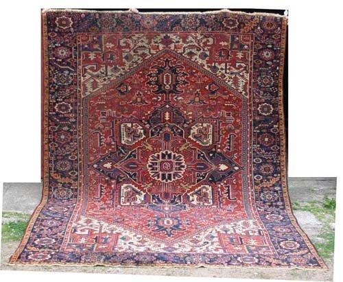 """3: 8'6""""x10'8"""" antique Heriz/Karajeh Oriental Rug"""