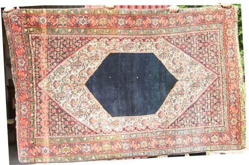 "4: 6'7""x4'3"" antique Senneh Oriental Rug"