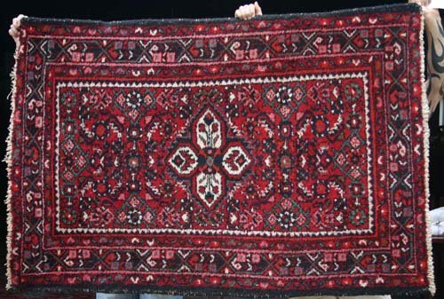 "5: 3'6""x5'4"" semi antique Karajeh Oriental Rug"