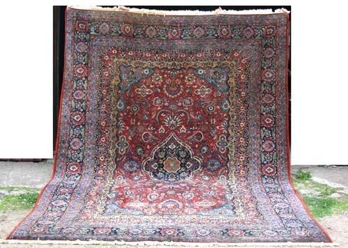 """6: 8'9""""x12'3"""" antique Sarouk Oriental Rug"""