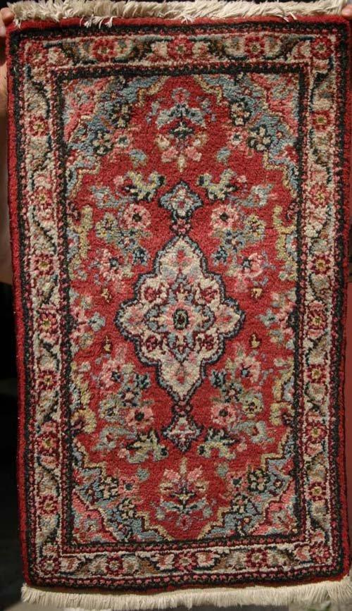 """8: lot of 2 antique Oriental mats 30"""" x 17 1/2"""" antique"""
