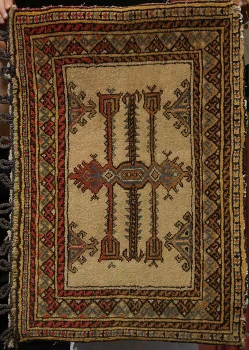 10: lot of 3 antique Estate Oriental area rugs: Turkish