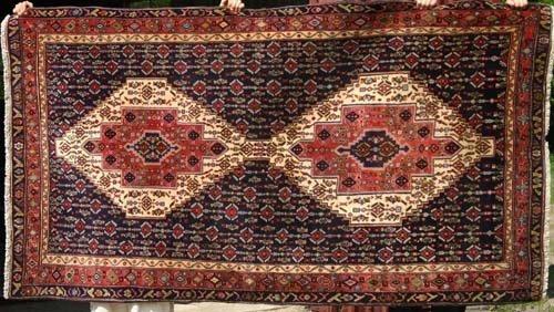 "11: 4'5""x8' semi antique Persian Sanandaj Oriental Rug"