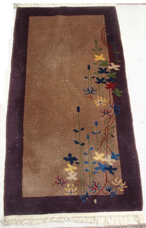 "11A: 5'8""x3' antique Peking Chinese Oriental Rug"