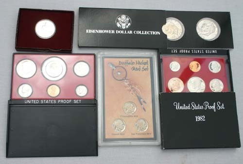 13: coin lot featuring mostly proof sets & collector se