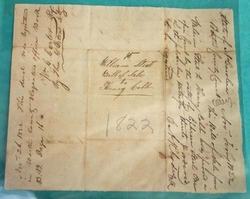 17: dtd 1822 slave document sgnd by several noted perso